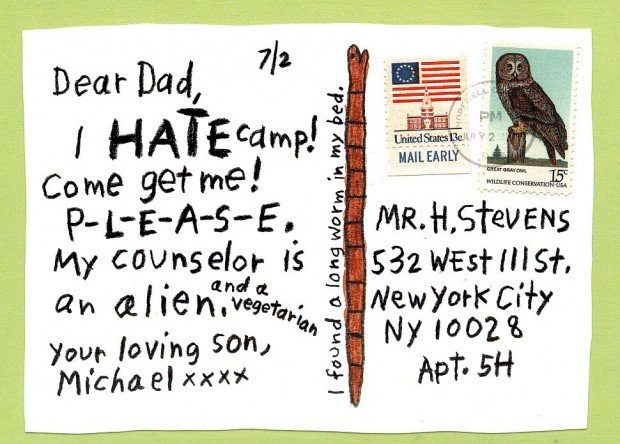 POSTCARDS FROM CAMP by SIMMS TABACK | Steve Brodner