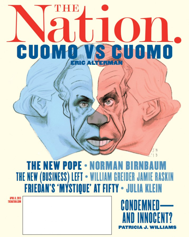 Nation cover Cuomo Triple Portrait